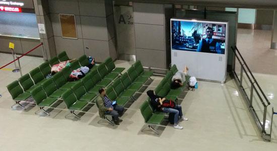 成田空港 宿泊者に解放されたターミナル
