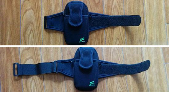 サンワサプライ PDA-MP3C5BK アームバンドスポーツケース ブラックに延長コードを装着