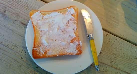 ポーリークリームチーズを塗る その2