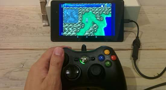 Nexus7に箱コンを指してFF6をプレー